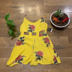 Topshop Yellow Floral Romper NWT